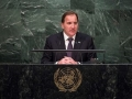 Stefan Löfven, Prime Minister of Sweden, addresses the United Nations summit for the adoption of the post-2015 development agenda. Photo: UN Photo/Cia Pak