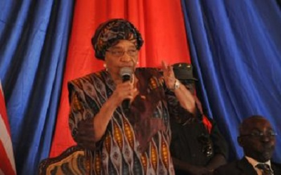 President Sirleaf launches the project (Pic: Liberian Government)