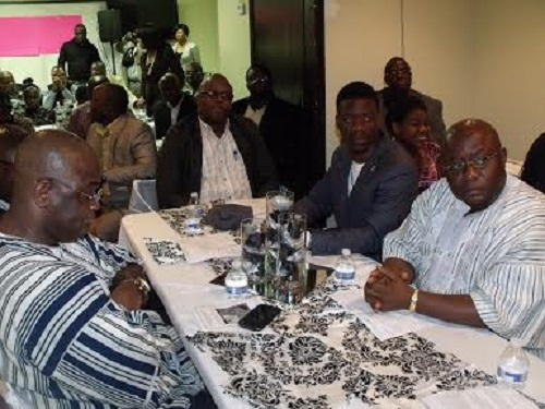 Liberian community leaders at the event