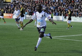 Gefle's Dioh Williams celebrate his goal against AIK Photo: gefleiffotboll.se