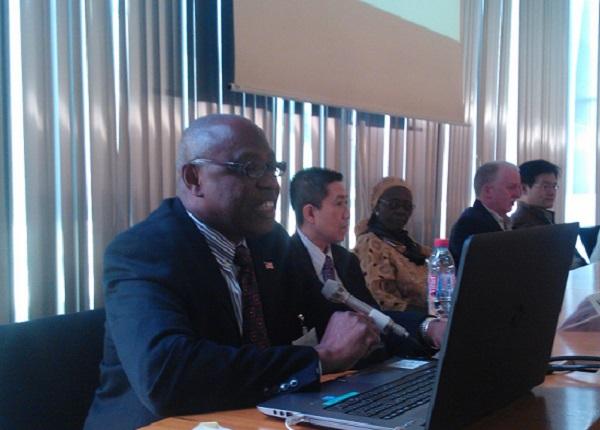 Minister Jackson speaks at the forum