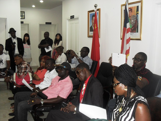 Some members of the Liberian community in Beijing at the program