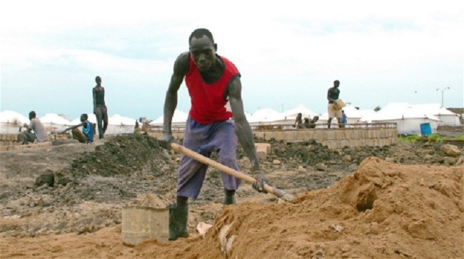Preparing a waste -water treatment facility within the new IDP camp at the UN base in Malakal