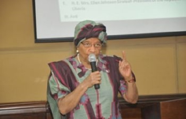 President Sirleaf speaks to Liberians about the Ebola danger