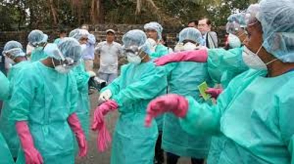 The lack of protective gear for health workers has been a big problem