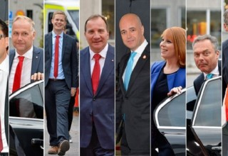 Leaders of Swedish political parties Photo: Swedish radio International