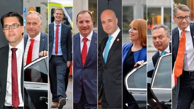Leaders of Swedish political parties Photo: Swedish radio International