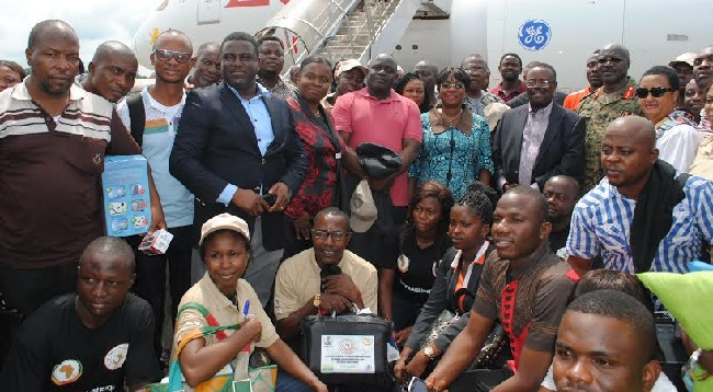 Nigerian medical team in Liberia to help in the fight against the virus