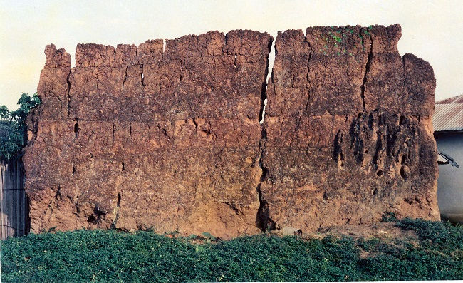 Remains of a fortified century old town wall at Yeala, Lofa County