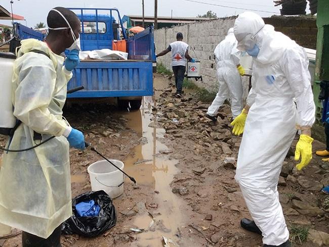 Liberian health workers
