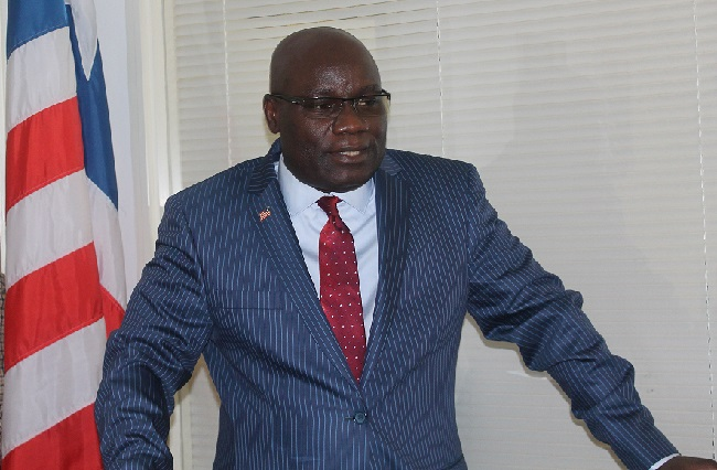 Ambassador Nyenabo speaks at the opening ceremony