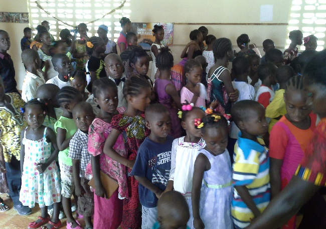 The number of kids have increased since the feeding program started
