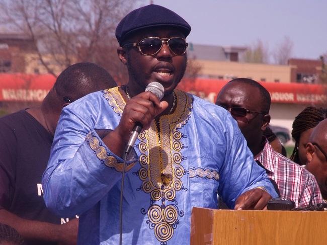 Al-Hussein Fadiga of Radio Africa makes a statement