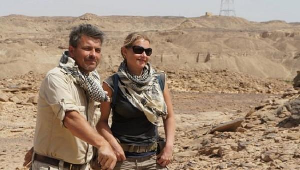 Mission Director Maria Nilsson and Assistant Director John Ward at Gebel el Silsila, Photo: TT