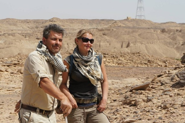 Mission Director Maria Nilsson and Assistant Director John Ward at Gebel el Silsila, Photo: TT
