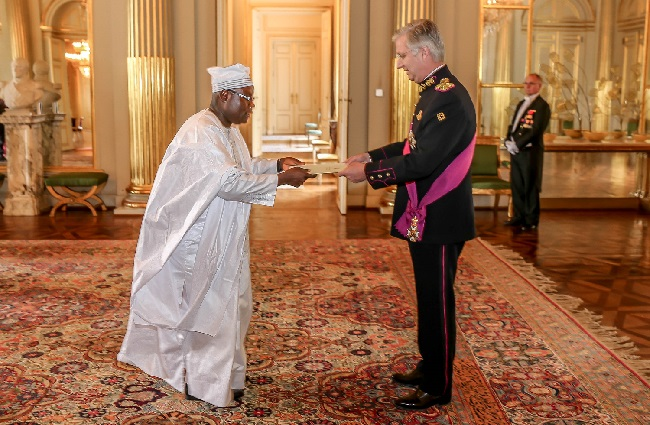 King Phillipe of Belgium receives Ambassador Nyenabo's credentials