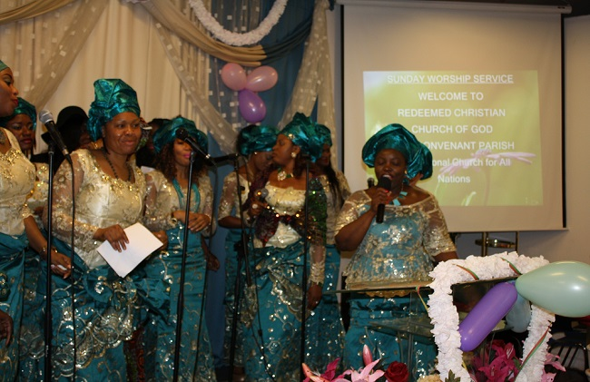 Covenant Parish women sing to the glory of God