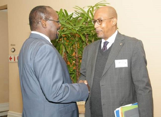 Dr Mayaki with Ambassador Diop