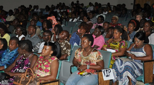 Audience at the Ambassador's performance. Photo: Issa Mansaray/The AfricaPaper