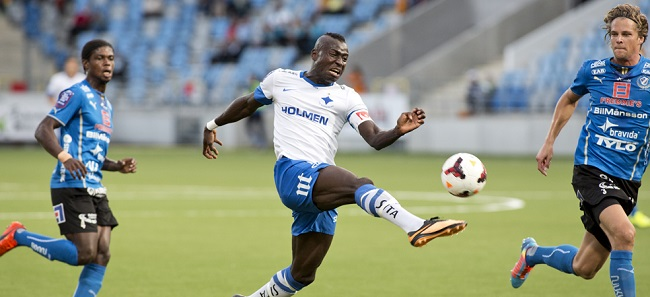 Kamara takes a shot on goal for Norrkoping Pic: ifknorrkoping.se