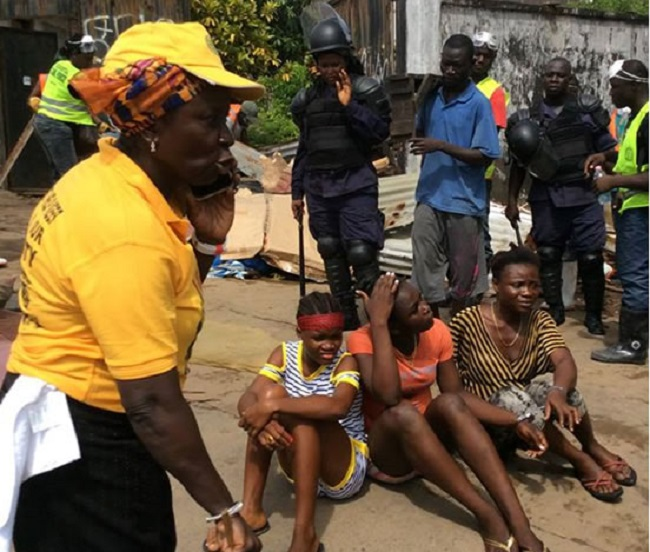 Broh ( in yellow) and some of her victims Photo: Frontpage Africa