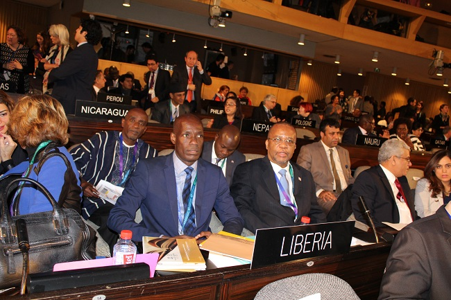 Minister Nagbe (left)and Amb. Allen attend the conference opening