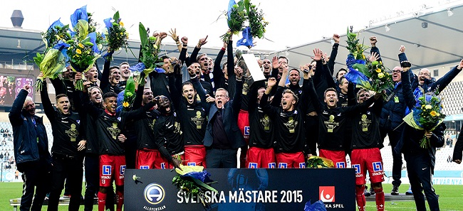 IFK Norrkoping- Swedish football champs 2015 Photo: svenskfotboll.se