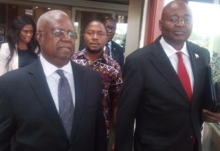 Dr. Sawyer (left) was accompanied to the summit by Ambassador Conteh