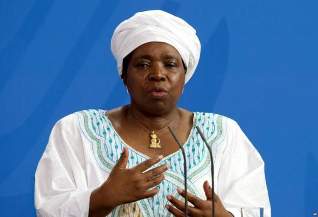 AU Commission chief Nkosazana Dlamini-Zumas has warned of sanctions