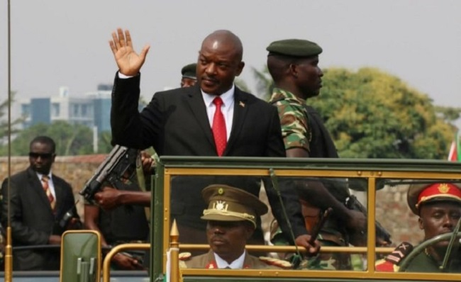 Burundi President Pierre Nkurunziza at a commemoration for the country's 53rd year of independence.  © Burundi Government