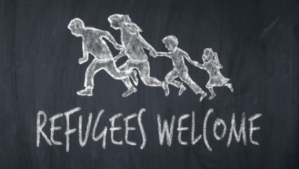 """The demonstrators chanted slogans like """"Refugees welcome""""(Photo: iStock)"""