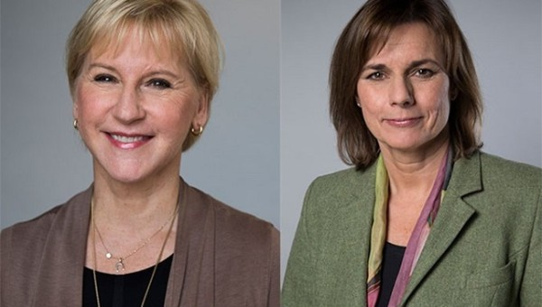 (From left) Margot Wallström, Minister for Foreign Affairs and Isabella Lövin, Minister for International Development Cooperation.  Photo: Kristian Pohl/ Regeringskansliet