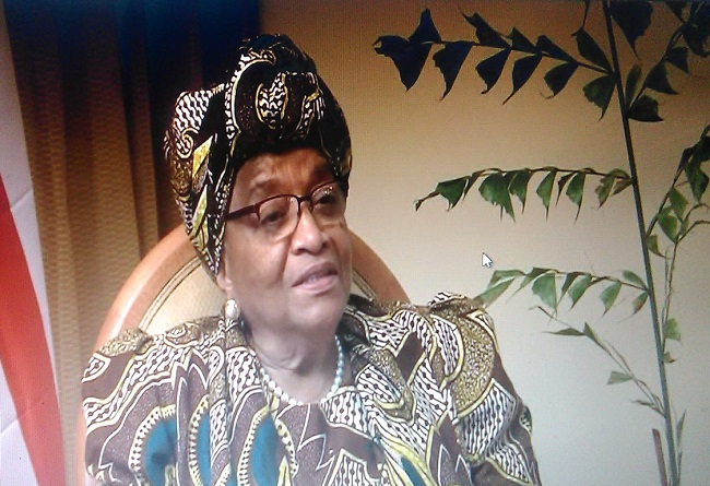 President Sirleaf says Liberia has made a lot of progress