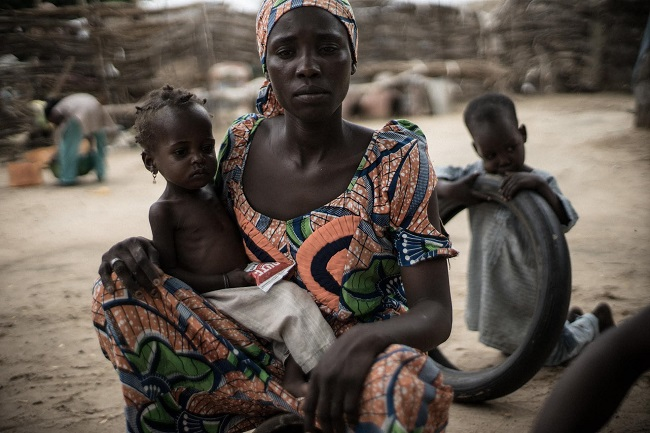 20-month-old Ummi Mustafa and her mother, Maiduguri, Nigeria. Credit: Guy Calaf/Action Against Hunger USA)