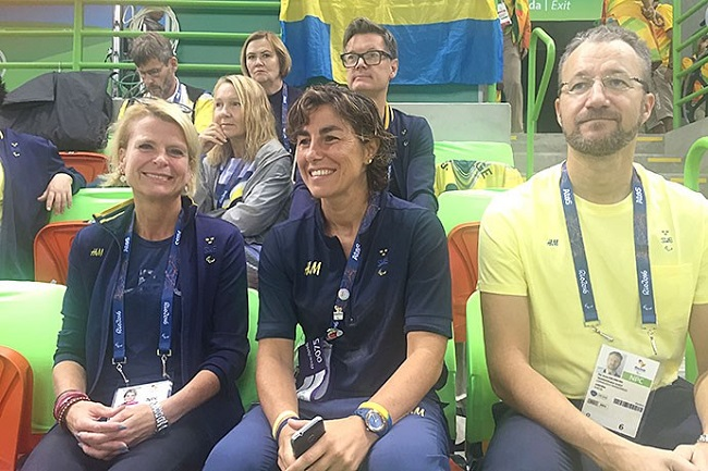The Paralympics are more than just a sporting event. The Games are also important in the work of creating a more inclusive society in which everyone can participate. The Swedish model is a prerequisite for this, says Ms Regnér ( first from left). Foto: Joanna Abrahamsson//Government Offices