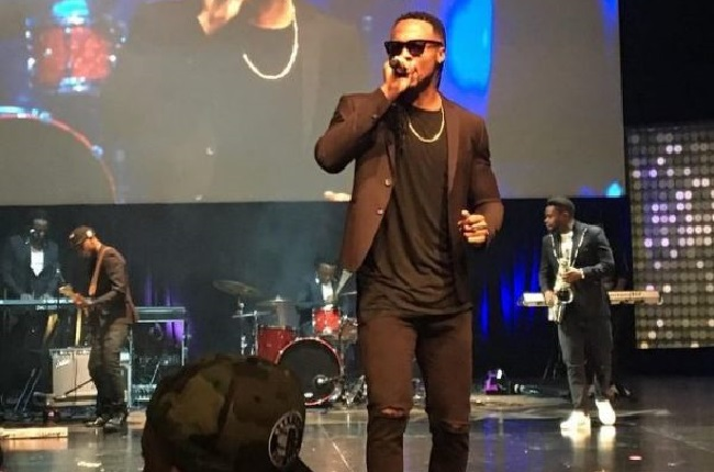 Nigerian star Flavour, who won the Artist of the Year award, performs at the ceremony