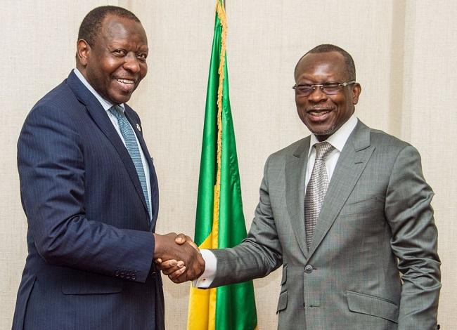 ATI CEO, George Otieno (letf) and Patrice Talon of Benin(right)